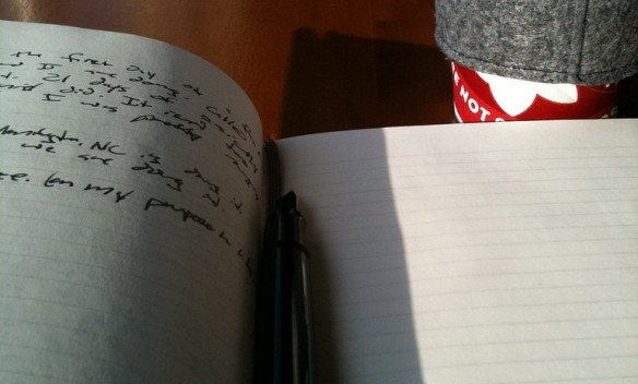 Studying at Starbucks with my Moleskine Notebook and Pelikan M200 Fountain Pen