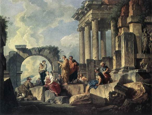Apostle Paul Preaching on the Ruins
